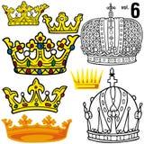 Coronas reales vol.6 stock de ilustración