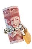 Coronas suecas. moneda en Suecia Imágenes de archivo libres de regalías