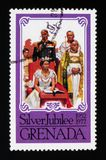 Coronation σκηνή, ασημένιο ιωβηλαίο serie, circa 1977 στοκ εικόνες