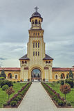 Coronation Cathedral Bell Tower, Alba Iulia, Romania Stock Photography