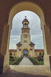Coronation Cathedral Bell Tower, Alba Iulia, Romania Stock Images