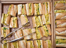 Coronation chicken baguettes Stock Image