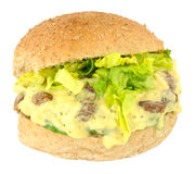 Coronation Chicken Sandwich Roll Royalty Free Stock Image