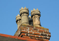 Coronation chimney pots Royalty Free Stock Images