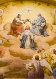 Coronation of hl. Mary from Vienna church. Of st. Francis Royalty Free Stock Photo