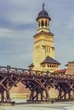 Coronation Orthodox Cathedral tower, Alba Iulia royalty free stock photo