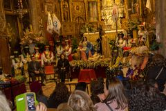 Coronation of the Reyes Magos stock images
