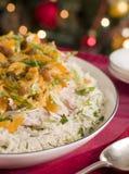 coronation rice salad turkey στοκ εικόνα με δικαίωμα ελεύθερης χρήσης