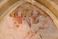 Coronation of th Virgin Mary Stock Photos