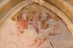 Coronation of th Virgin Mary Stock Image
