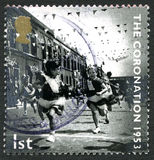 The Coronation UK Postage Stamp Stock Photography