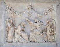 Coronation of the Virgin Mary Royalty Free Stock Photography