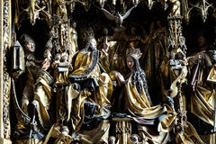Coronation of the Virgin Mary Royalty Free Stock Images