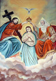 Coronation of Virgin Mary. Painting on church altar Royalty Free Stock Image