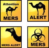 Coronavirus alert icons tags Royalty Free Stock Photography