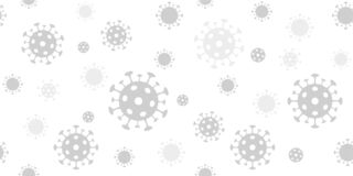 Free Coronavirus Background. Vector Seamless Pattern With Covid-19 Virus Sign. Light Gray Backdrop For Banners Stock Photos - 176129893