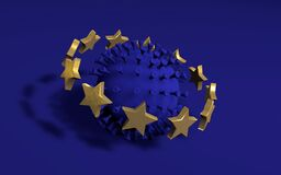 Free Coronavirus COVID-19 Infection Disease Spreading All Over EU Blue Concept Royalty Free Stock Photo - 178091015