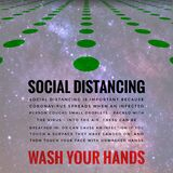 Covid-19 Outbreak Messages Social Distancing & Wash Hands