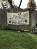 Coronavirus, COVID-19 Thank You Sign, Rutherford, NJ, USA