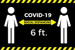 Coronavirus COVID-19 virus social distancing concept.
