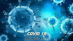 Coronavirus Covid 19 Worldwide alert text