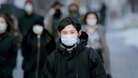 Coronavirus Korea. Corona Virus. Covid-19 Korean Ethnicity. Wear Mask Flu People