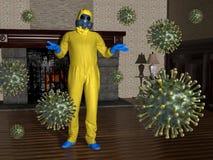 Coronavirus Pandemic, COVID-19, Virus, Disease, Hazmat Suit