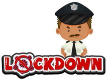 Free Coronavirus Poster Design With Word Lock Down And Policeman Royalty Free Stock Photo - 178209365