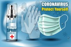 Free Coronavirus, Protect Yourself A Poster With Epidemic Protection Stock Photography - 177005302