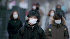 CoronaVirus. Quarantine Crowd. Epidemic People Protect Masks. Lockdown Pandemic.