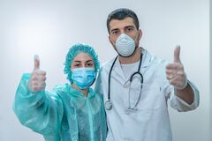 Coronavirus. Thank you doctors and nurses working in the hospitals and fighting the coronavirus. Doctors are heroes. Doctors in th