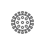 Coronavirus, virus line icon. Outline vector sign, linear pictogram isolated on white. Symbol, logo illustration Stock Photos
