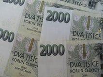 Corone ceche di banconote Fotografia Stock