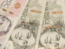 Corone ceche di banconote Fotografie Stock Libere da Diritti