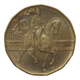 Corone ceche di moneta Fotografia Stock