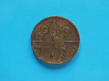 20 corone di moneta, repubblica Ceca Fotografie Stock