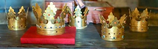 Corone di re della cittadella della Moldavia a Targu Neamt Fotografia Stock