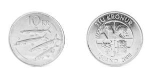10 corone islandesi Immagini Stock Libere da Diritti