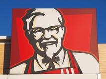 Coronel Sanders, o a cara oficial do logotipo de Kentucky Fried Chicken imagens de stock royalty free