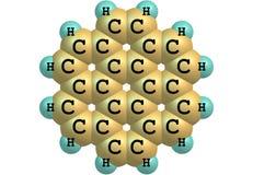 Coronene molecular structure isolated on white Stock Photo