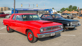 1965 Coronet and 1962 Dart at the Woodward Dream Cruise Stock Images