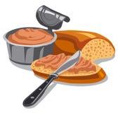 Coronilla de la carne en el pan cortado libre illustration