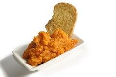 Coronilla picante deliciosa del queso de Almogrote Fotografía de archivo libre de regalías