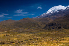 Coropuna山。 秘鲁 图库摄影
