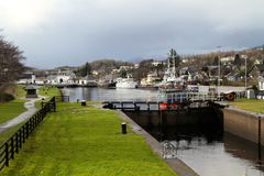 Corpach Lock Royalty Free Stock Photography