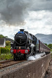 CORPACH, SCOTTISH HIGHLANDS/UK - MAY 19 : The Jacobite steaming Stock Photography