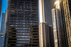 Corparate buildings and skyscrappers. In Chicago Royalty Free Stock Image