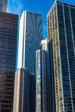 Corparate buildings and skyscrappers. In Chicago Royalty Free Stock Photos