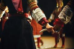 Corpi di folclore serbo fotografia stock