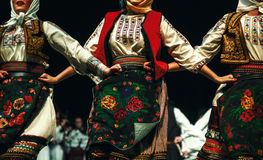 Corpi di folclore serbo immagini stock libere da diritti